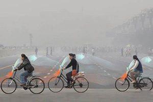 دوچرخه ای که هوا را تمیزمی کند